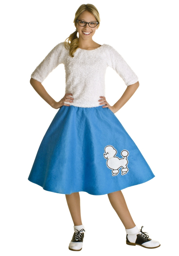 This Adult Blue Poodle Skirt Is Perfect For A Sock Hop And Halloween Felt Also Available Children
