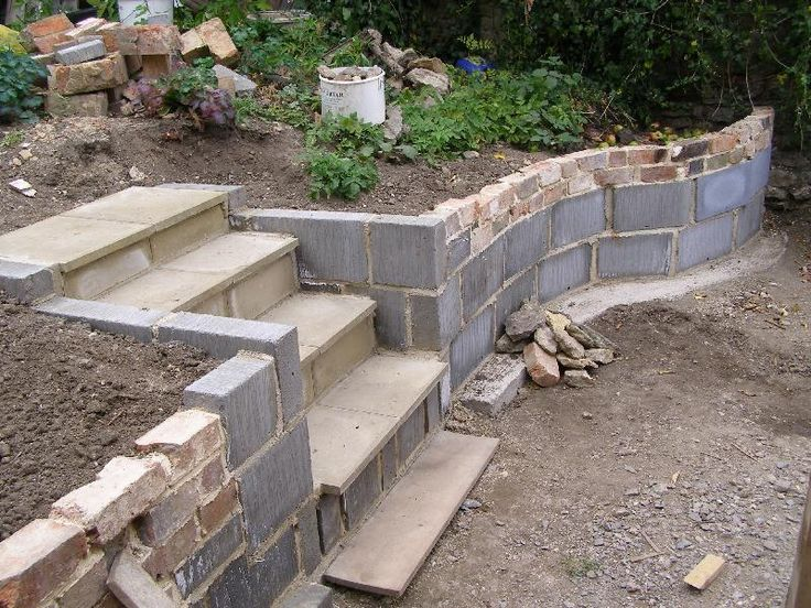inexpensive wall- could even face the cinder blocks with ... on Backyard Cinder Block Wall Ideas id=67238