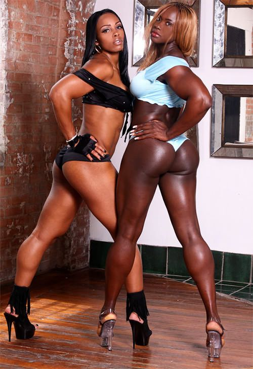 Sexy black muscle women-9436