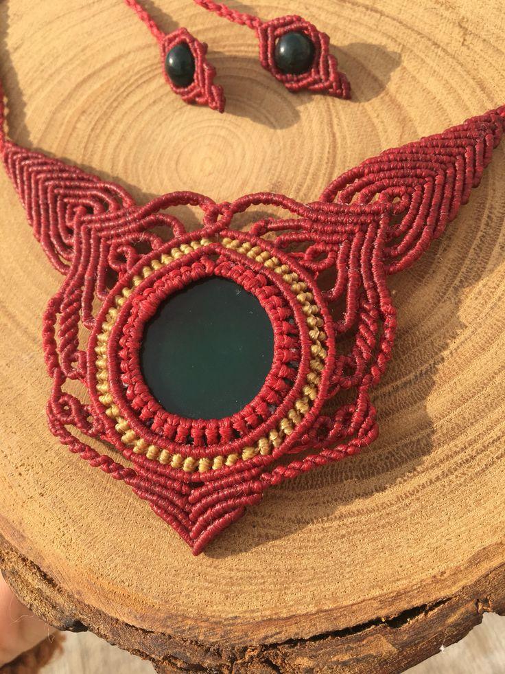 #macrame #necklace #macramedıy #agate #gemstone #kolye #handmade
