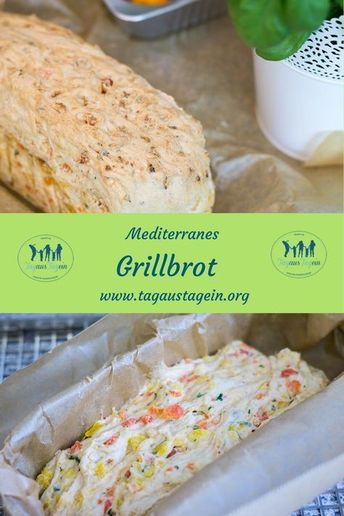 Brot, Grillbrot, Brot zum Grillen, mediterran, einfach, schnell, Rezept