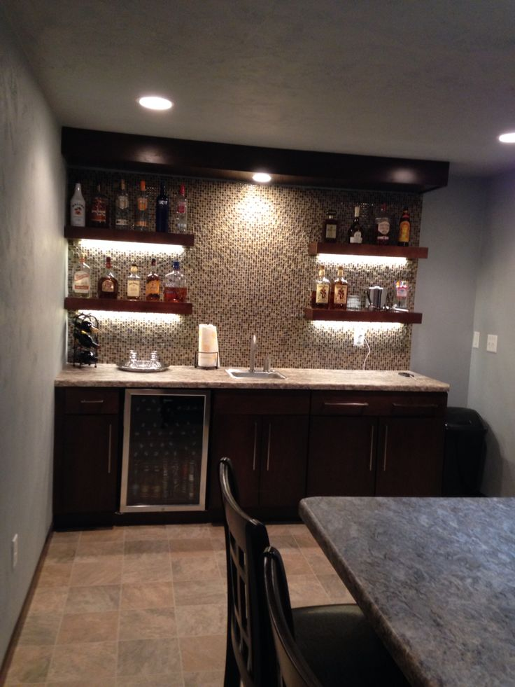 Walk up bar basement | Home bar designs, Home bar decor ... on Small Wet Bar In Basement  id=90905