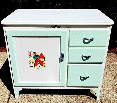 ... enamel Top Hoosier vintage Antique Napanee Enamel Style Vintage Cabinet  cabinets Bread c1930s ... - Vintage Cup: NEW 648 VINTAGE ENAMEL CABINETS