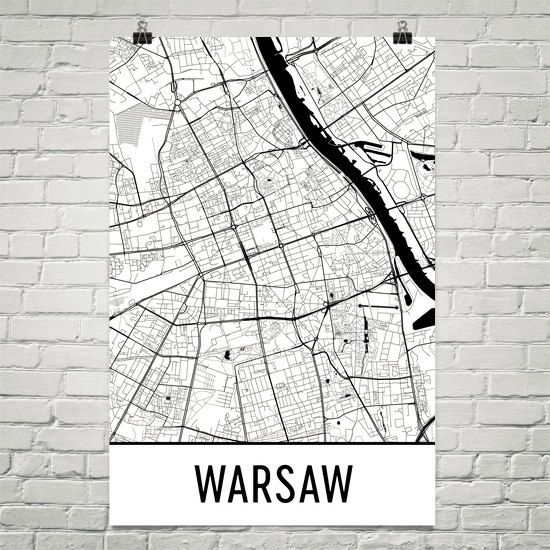 ПОЛЬША, ВАРШАВА Warsaw Map Art Print, Warsaw Poland Art Poster, Warsaw Print, Warsaw Wall Art, Warsaw Poster, Gift, Birthday, Modern, Art