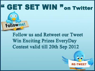 "Twitter contest ""GET SET WIN"""