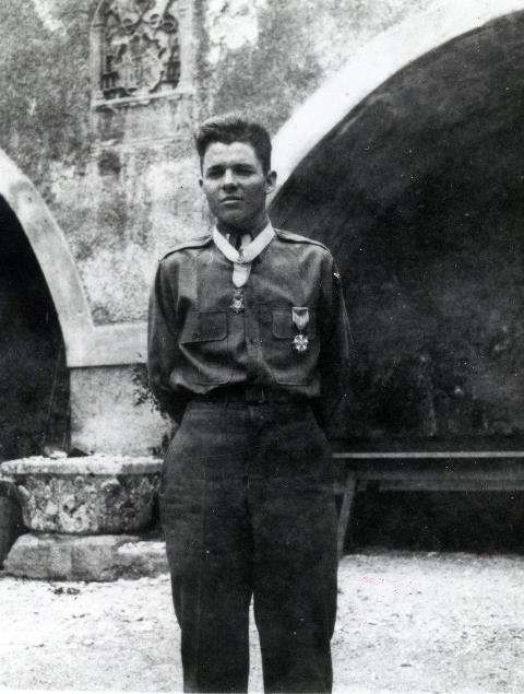 Lt Audie Murphy Wearing The Medal Of Honor And The Legion