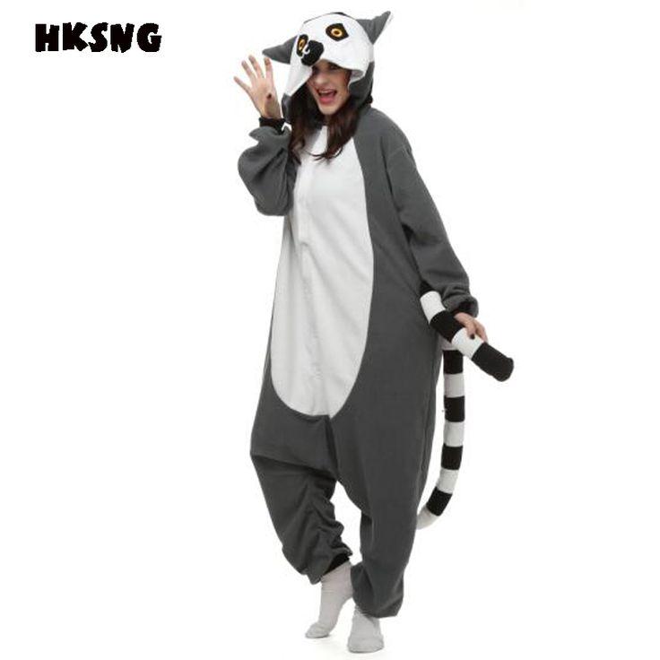 HKSNG Unicorn Pikachu Pokemon Pajamas Fleece Espeon Lemur Catta Seal Wolf Animal Dog Black Cat Onesie Kiguruma Cosplay Costume #Affiliate
