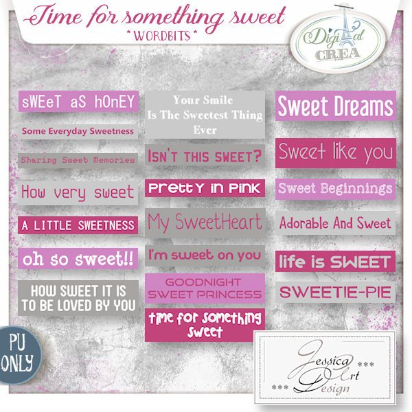 Time for something sweet * wordbits * by Jessica art-design
