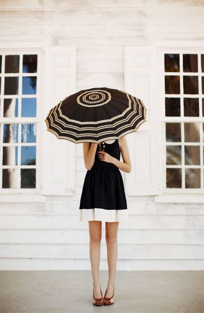 : Fashion, Umbrellas, Style, Clothing, Black And White, Peter Pan Collars, Black White, The Dresses, Photography