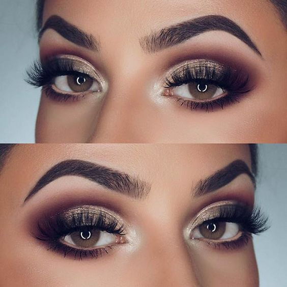 Glamorous Smokey Eye Makeup Idea for Brown Eyes