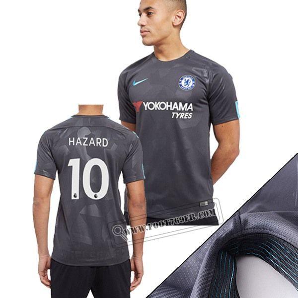 Promotion: Magasins Foot769fr Meilleur Flocage Maillot FC Chelsea (Hazard 10) Third Gris Camouflage 2017 2018 Thailande Nouveau