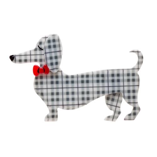 Spiffy the Sausage dog brooch