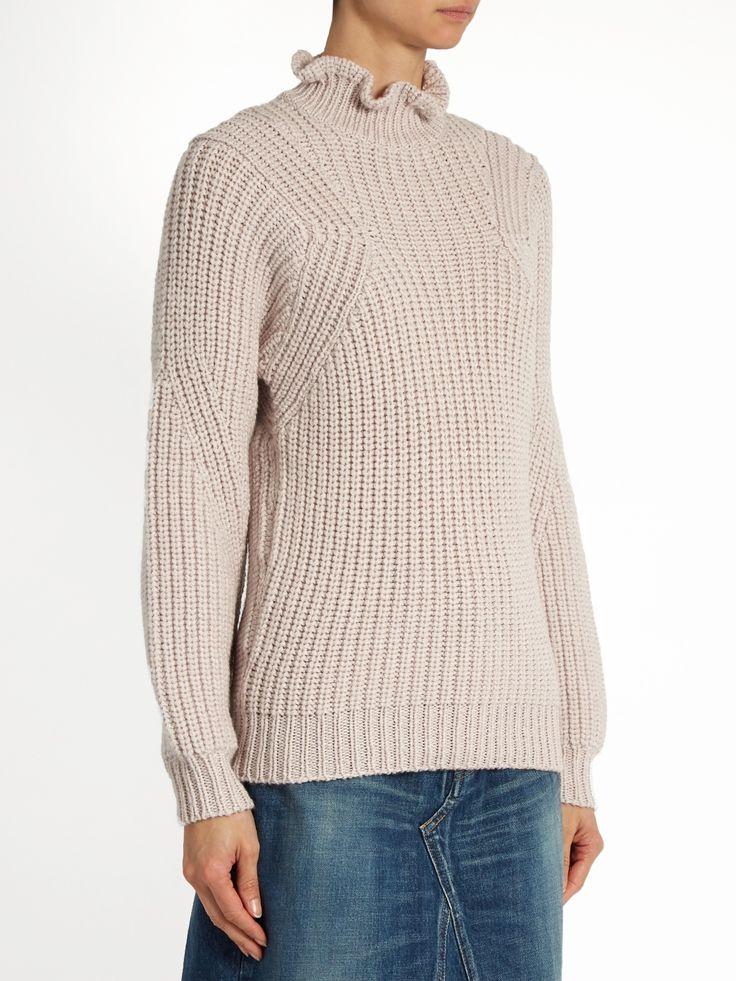 Ruffle-neck wool-blend sweater  | Rebecca Taylor | MATCHESFASHION.COM