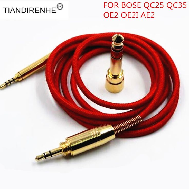 High end Hifi Audio Weaving thread Cable For Bose QC25 QC35 OE2i OE2  AE2 SoundTrue Soundlink Headphones Cords With 6.5 adapter
