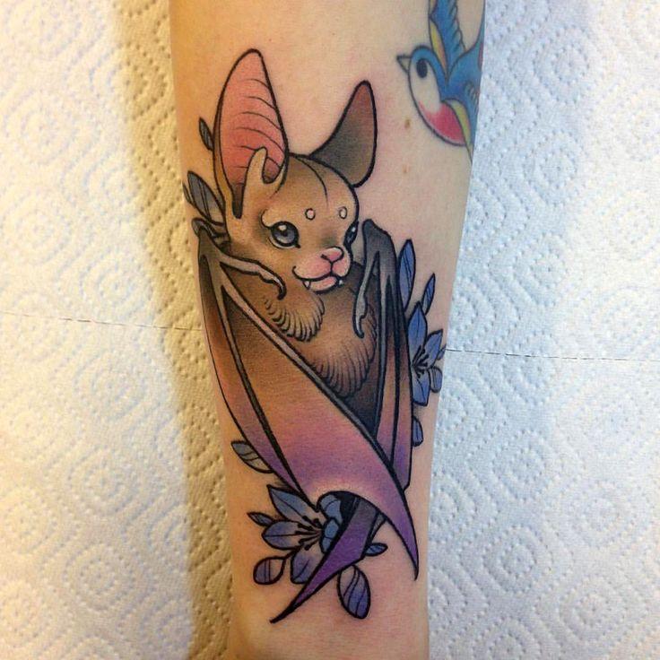 Bat tattoo by Katerina Boyadzhieva, AnonymousTattoo, Sofia, Bulgaria