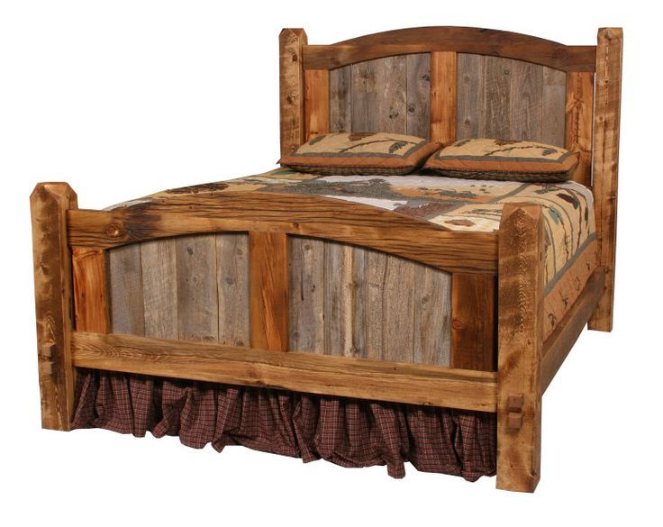 Reclaimed Wood Bed ~ Barn wood bed frame plans woodworking projects