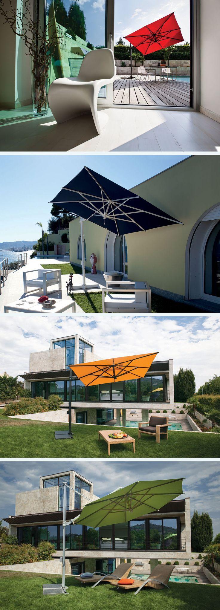 Ombrellone Garda, retrattile, orientabile sia lateralmente che longitudinalmente. Made in Italy, produzione FIM. #umbrella #parasol #arredo #giardino