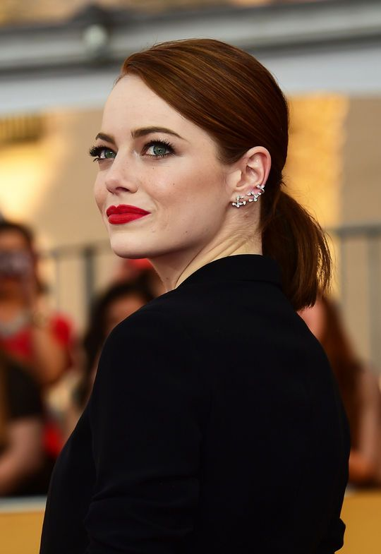 Emma Stone's bold red lipstick at the SAG Awards (we know the exact shade!)