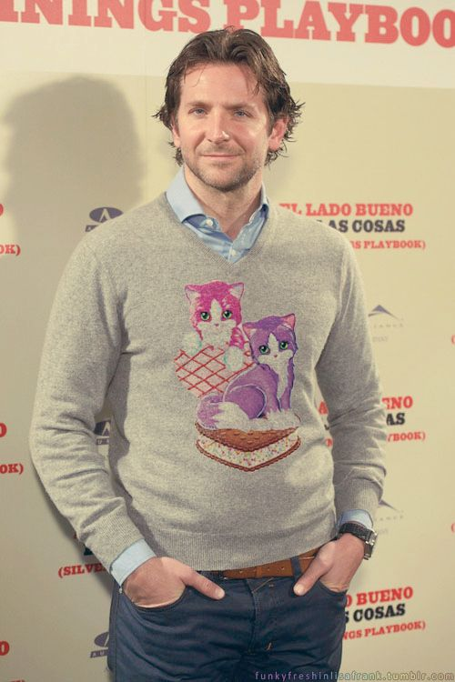 Bradley Cooper | Your Favorite Celebs Decked Out In Lisa Frank hahah this is awesome. :D