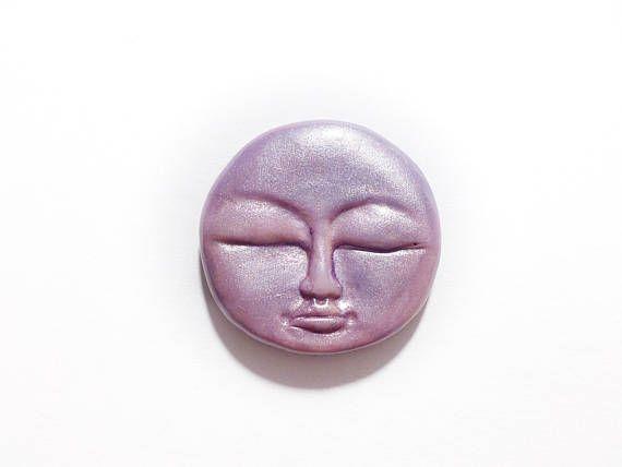 Lavender Moon Full Moon Face Lavender Full Moon Light