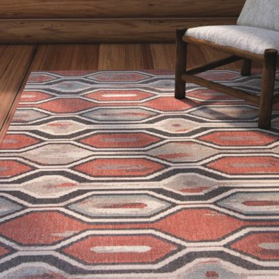 "Loon Peak Condon Rust Indoor/Outdoor Area Rug Rug Size: 7'7"" x 10'10"""