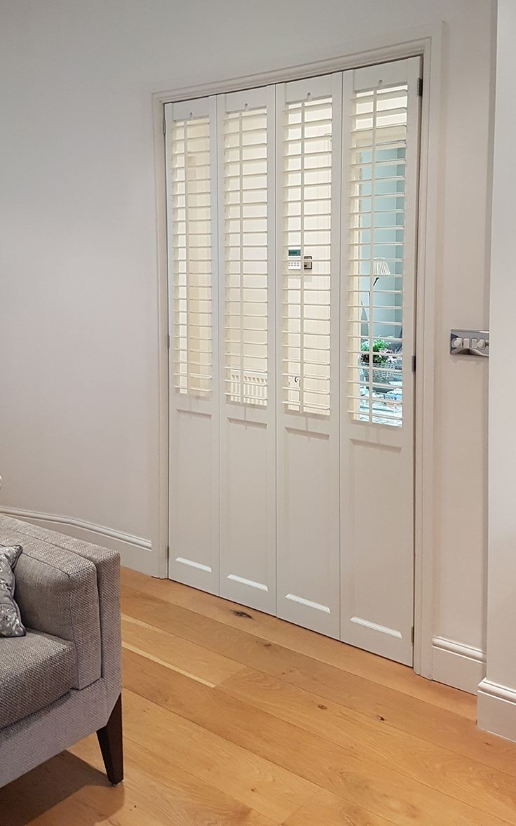 Mix and match exclusive TNESC shutter designs. Solid Victorian design on the lower half of the panel has been combined with our traditional plantation shutters to create the perfect doors and room dividers.
