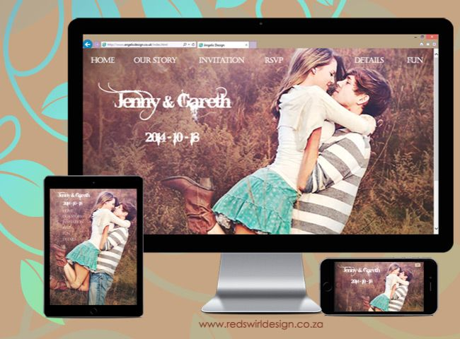 We would like your wedding website to reflect your personality.