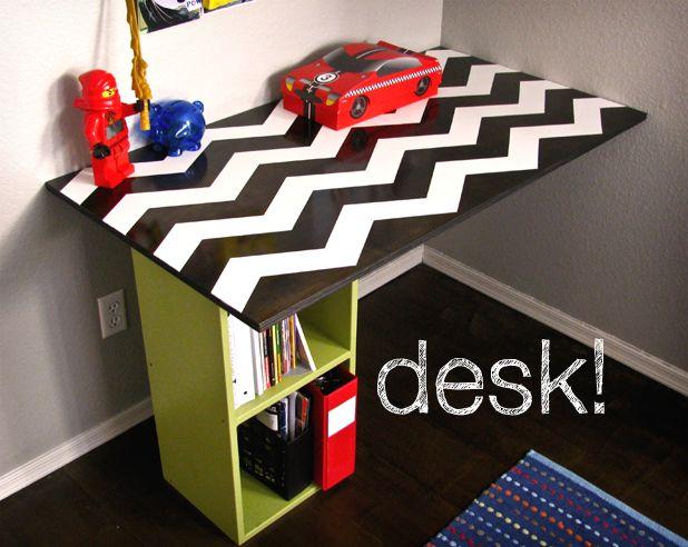 25 best ideas about homemade desk on pinterest. Black Bedroom Furniture Sets. Home Design Ideas