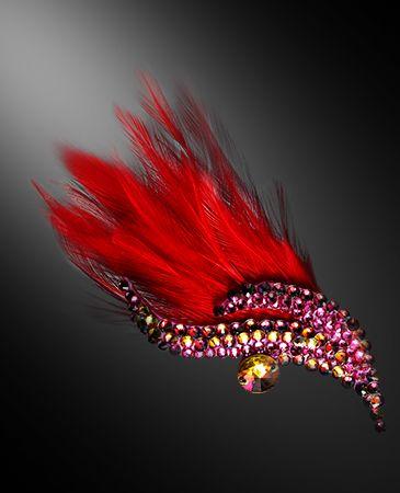 Zdenka Arko Fuchsia Crystal Hairpiece HA11004-31 - Rhinestone Jewelry | Dancesport Fashion @ DanceShopper.com