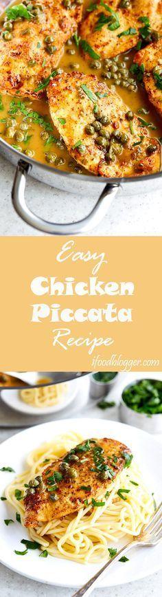 Easy Chicken Piccata Recipe - i food blogger