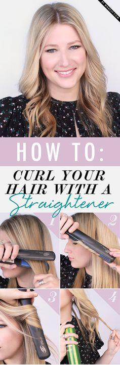 Curling your hair without a curling iron?! YES you can curler your hair with your straightener and still get an amazing wavy hairstyle. Check out how to do it here!