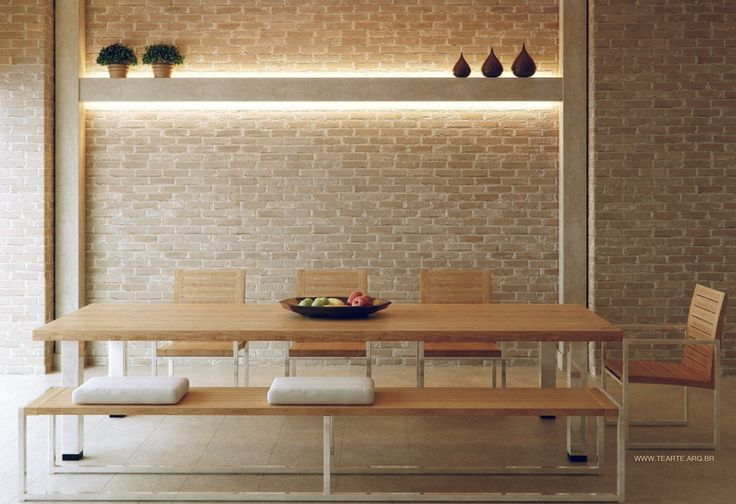 Dining Room Ideas:Contemporary Brick Architecture Design In Dining Room Fresh White Established Dining Spaces