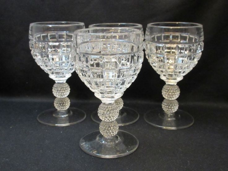 Heisey #1425 Victorian Set of 4 Cocktail Goblets or More Excellent