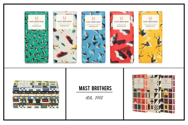 Mast Brothers chocolate (Brooklyn, New York, USA,2008)- they are pioneers of bean-to-bar craft chocolate