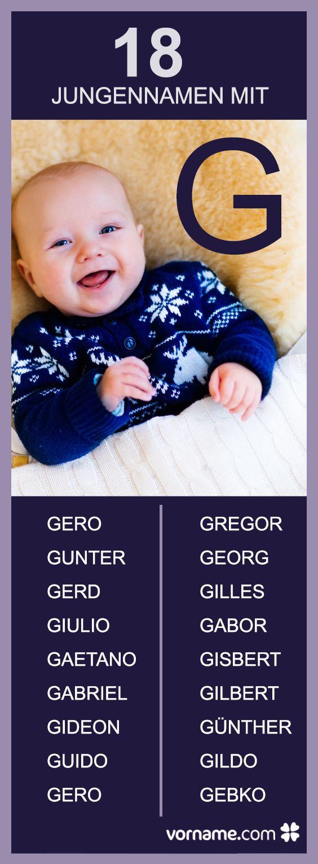 Du suchst einen Jungennamen, der mit einem G beginnt? Finde bei uns einen passenden Namen für Deinen Sohn!