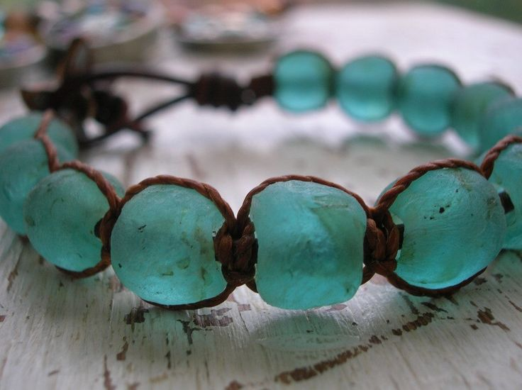Aqua wrap bracelet - Beachcomber - Boho beach jewelry handmade glass beads leather sea glass starfish nautical aqua seafoam chunky bracelet by 3DivasStudio on Etsy https://www.etsy.com/listing/226603701/aqua-wrap-bracelet-beachcomber-boho