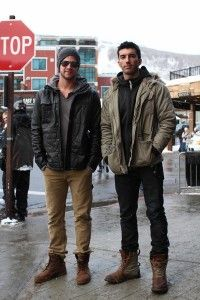 Australian actor Liam Hemsworth, left, wearing Timberland Earthkeepers 6-Inch  boots. (Image from upscalehype.com)