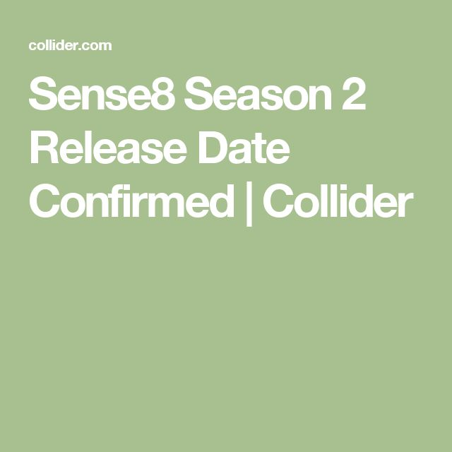 Sense8 Season 2 Release Date Confirmed | Collider