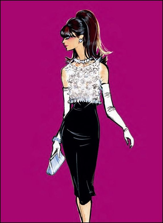 Dior illustration by Grant Cowan