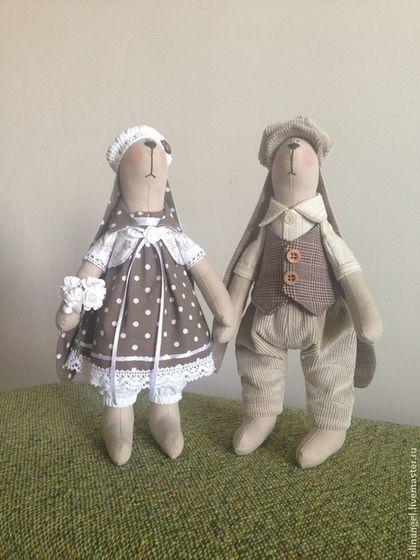 Куклы Тильды ручной работы. Ярмарка Мастеров - ручная работа Тильда-заяц стоячий. Handmade.