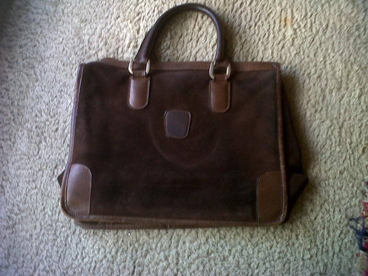Early 60s Gucci chamois and leather handbag