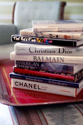 """A Tour of Oprah's library    A selection of books on fashion designers and photographers. Oprah's collection has grown to include scores of gorgeous coffee-table books. """"There are a lot of fun books in there, which makes it a functioning library for everyday reading,"""" says Oprah's book dealer Kinsey Marable."""