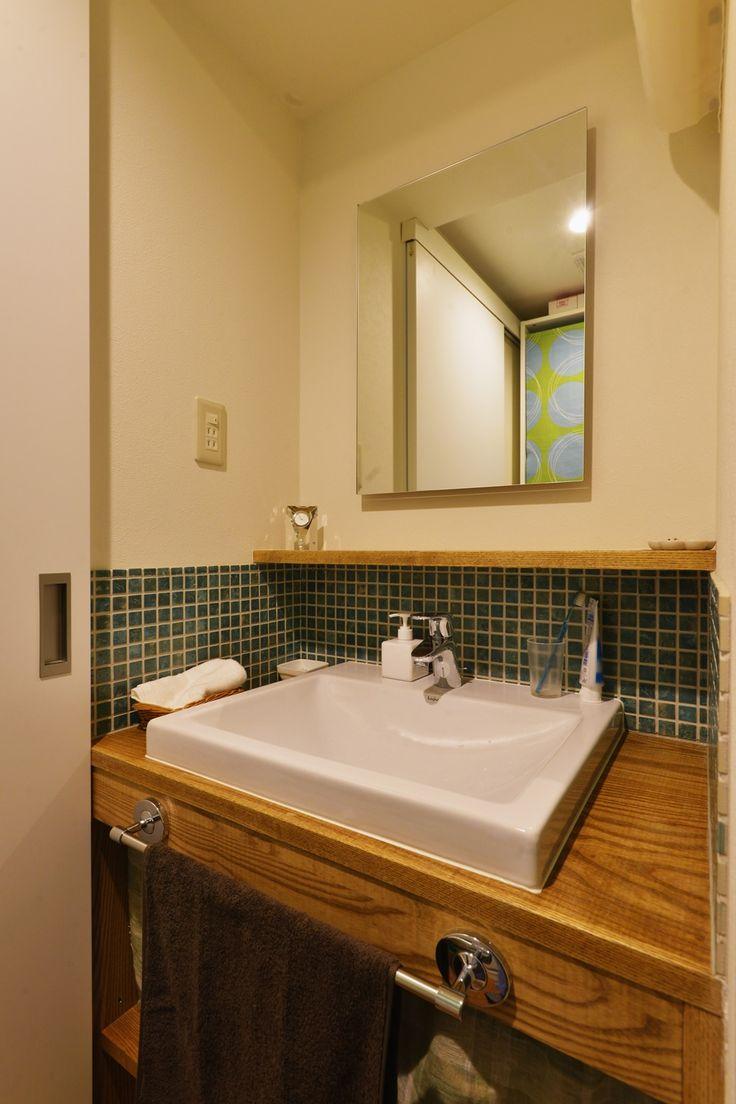 リフォーム・リノベーションの事例 洗面 施工事例No.447お気に入りのダイニングテーブルが映える、和モダンのリビング スタイル工房