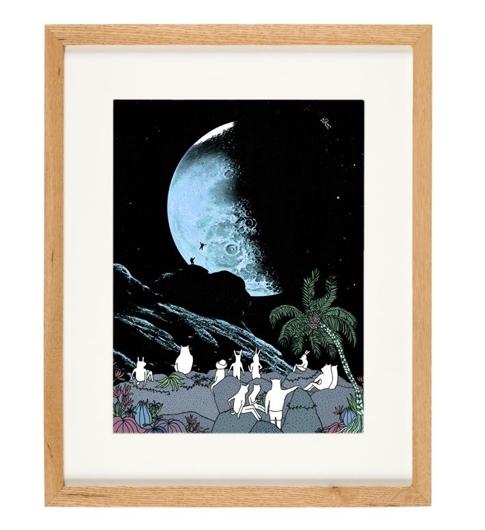 'Blue Moon' - limited Edition of 50 - A3 giclee print (unframed) - anniedavidson.bigcartel.com