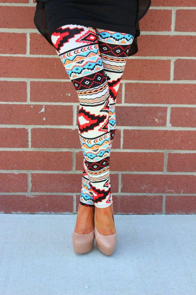 Modern Vintage Boutique - Aztec Red Leggings, $32.00 (http://www.modernvintageboutique.com/aztec-red-leggings.html)