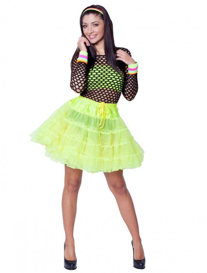 39f64dda67c3e Petticoat de luxe neongelb für Karneval & Fasching » Deiters #80er ...