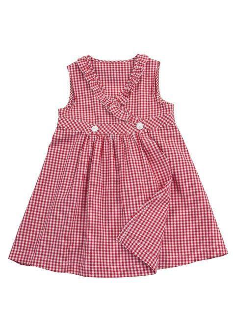 Vestido niña vichy rojo
