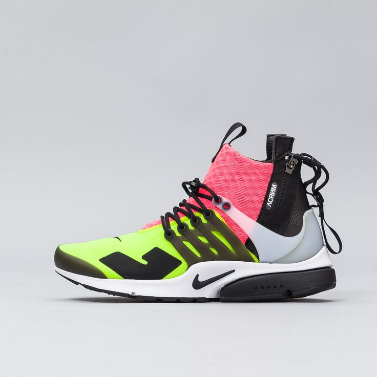 Nikelab x Acronym Air Presto Mid in White/Black/Hot Lava