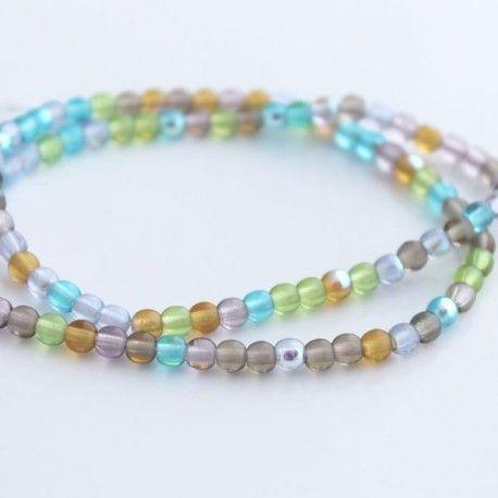 A pack of 100 beautiful Czech glass beads.