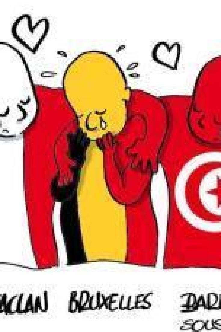 Tunisie: Des dessinateurs tunisiens rendent hommage à la Belgique, après les attentats